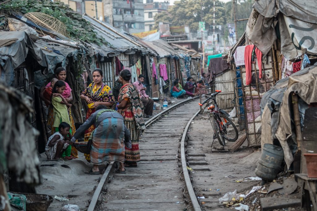 Living conditions are difficult for many in Bangladesh.