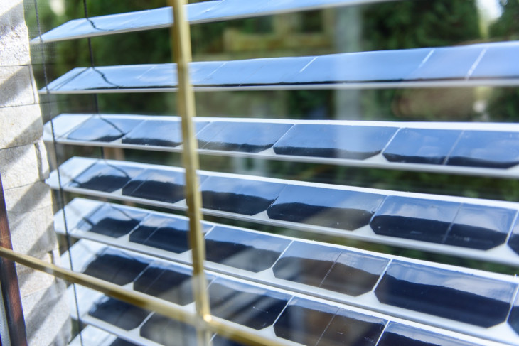 Window Blinds Double as Solar Panels