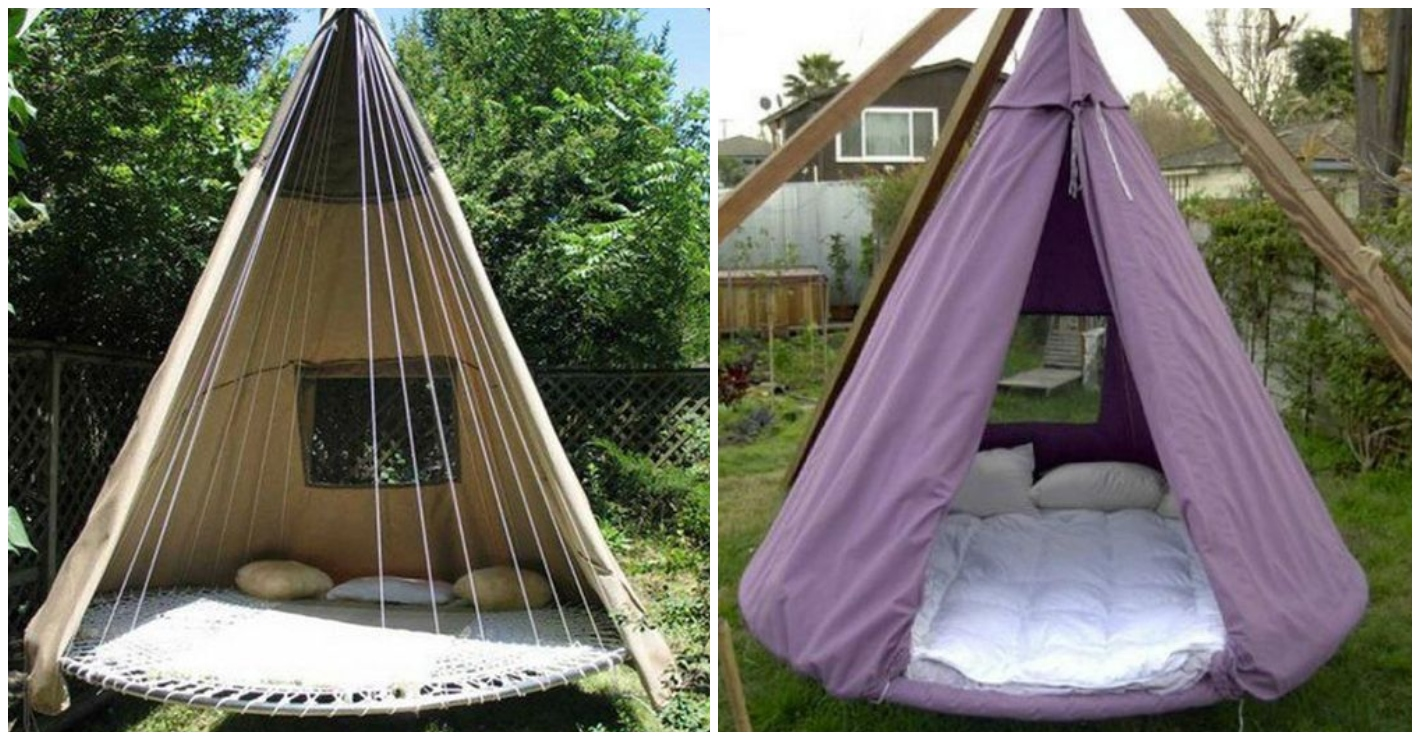 People Are Upcycling Old Trampolines Into Amazing Garden Bed